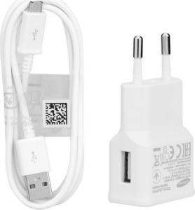 SAMSUNG TRAVEL CHARGER EP-TA50EW 1550MAH WHITE + MICRO USB CABLE DCU4AWE BULK