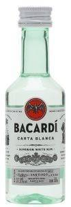 RUM BACARDI CARTA BLANCA (PET) 50 ML