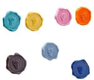 ΔΙΑΚΡΙΤΙΚΑ ΠΟΤΗΡΙΩΝ ΠΟΙΚΙΛΙΕΣ ΚΡΑΣΙΩΝ ΜΕ ΒΕΝΤΟΥΖΑ VACUVIN (8 ΤΜΧ) κάβα accessories διακριτικα ποτηριων