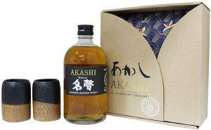 ΟΥΙΣΚΙ AKASHI WHITE OAK MEISEI JAPANESE BLENDED MALT 500 ML + 2 ΠΟΤΗΡΙΑ POT