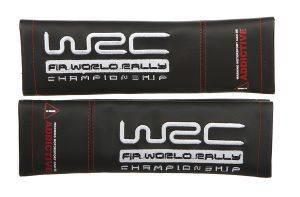 2 ΠΡΟΣΤΑΤΕΥΤΙΚΑ ΖΩΝΗΣ ΑΣΦΑΛΕΙΑΣ ΜΑΥΡΑ ΜΕ ΟΛΟΚΛΗΡΟ ΛΟΓΟΤΥΠΟ WRC Δύο WRC προστατευτικά ζώνης  κατασκευασμένα απόμαύρη δερματίνη με ολόκληρο το λογότυπο της σεασημί κέντημα Είναι άνετα και αποφεύγουν τη δυσάρεστη τ