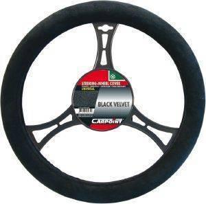 ΚΑΛΥΜΜΑ ΤΙΜΟΝΙΟΥ CARPOINT ΜΑΥΡΟ BLACK VELVET Κάλυμμα τιμονιού για το αυτοκίνητο άνετη οδήγηση  Εύκολη και ασφαλής τοποθέτηση Κατασκευασμένο από υψηλής ποιότητας ανθεκτικά υλικά Η εργονομική σχεδί