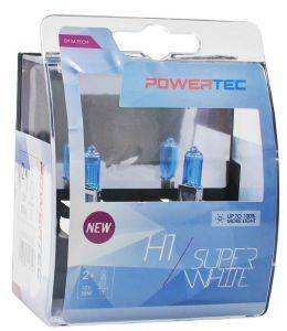 H1 12V 55W 3.450K P14.5 POWERTECK SUPERWHITE 2ΤΕΜ.