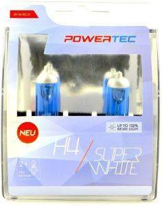 H4 12V 60/55W 3.450K P43T POWERTECK SUPERWHITE 2ΤΕΜ.