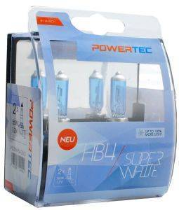 HB4 12V 55W 3.450K P22D POWERTECK SUPERWHITE 2ΤΕΜ.