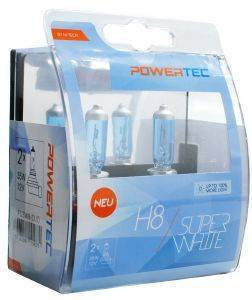 H8 12V 55W 3.450K PGJ19-1 POWERTECK SUPERWHITE 2ΤΕΜ.