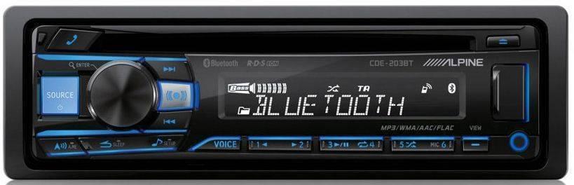 ΡΑΔΙΟ ΑΥΤΟΚΙΝΗΤΟΥ ALPINE CDE-203BT 4X50W.USB.AUX IN.BLUETOOTH