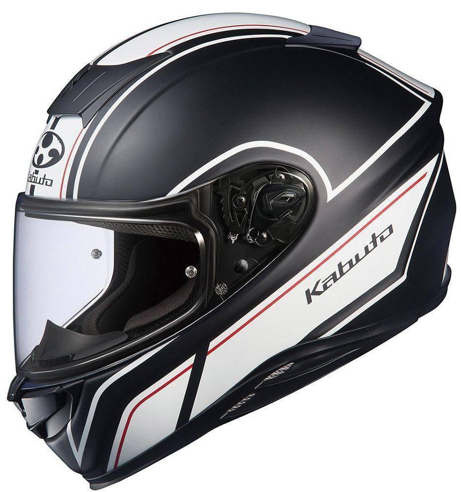 ΚΡΑΝΟΣ KABUTO AEROBLADE-5 SMART FLAT BLACK WHITE-XS