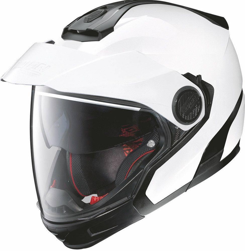 ΚΡΑΝΟΣ NOLAN N40-5 GT CLASSIC N-COM 05 METAL WHITE-XS
