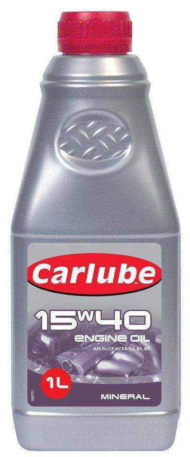 ΛΑΔΙ ΚΙΝΗΤΗΡΑ 15W-40 ΟΡΥΚΤΕΛΑΙΟ A3/B4 CARLUBE 1L