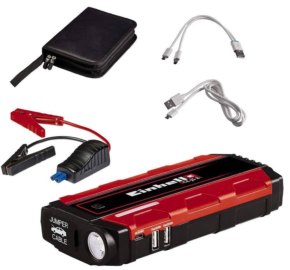 ΜΟΝΑΔΑ ΠΑΡΟΧΗΣ ΕΝΕΡΓΕΙΑΣ JUMP START EINHELL CE-JS 8 8000MAH + ΦΑΚΟΣ + POWERBANK USB 1091511