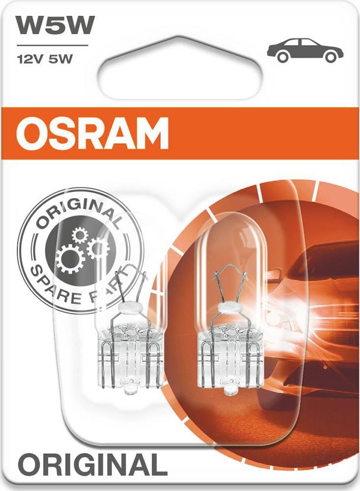 2 ΛΑΜΠΕΣ W5W 5W OSRAM (2825-02B)