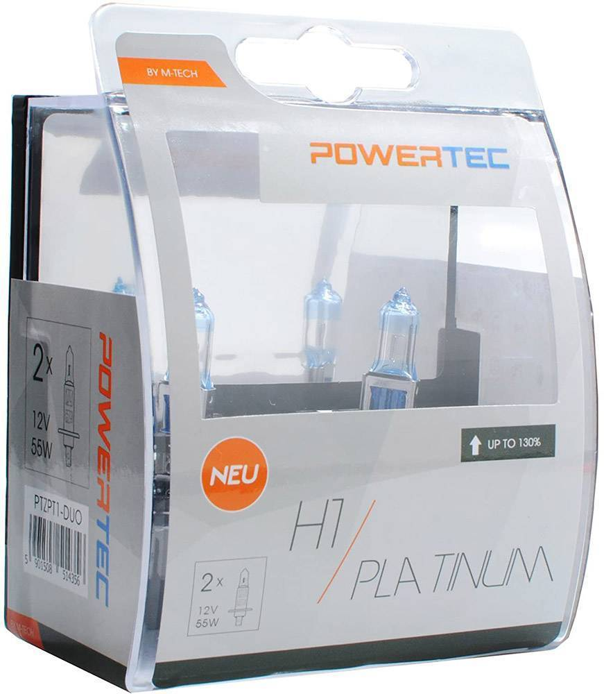 H1 M-TECH  12V 55W 3.250K +130% P14.5 POWERTECK PLATINIUM 2ΤΕΜ.