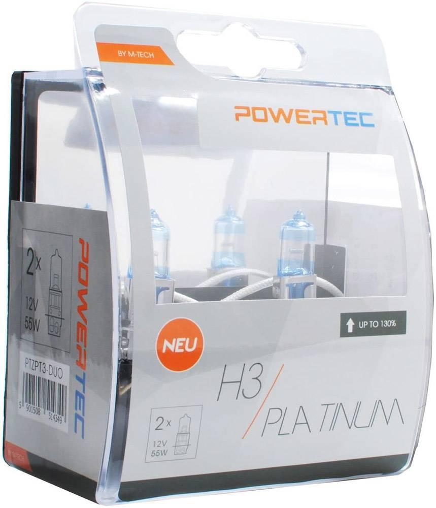 H3 12V 55W 3.250K +130% PK22S POWERTECK PLATINIUM 2ΤΕΜ. M-TECH