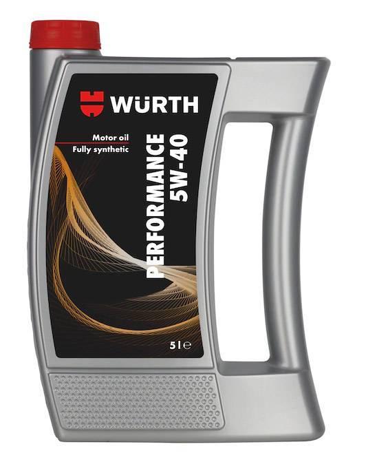 ΛΑΔΙ ΜΗΧΑΝΗΣ WURTH PERFORMANCE 5W40 5L (0897805502)