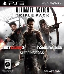 ULTIMATE ACTION TRIPLE PACK (INC. JUST CAUSE 2 + SLEEPING DOGS + TOMB RAIDER)  - PS3