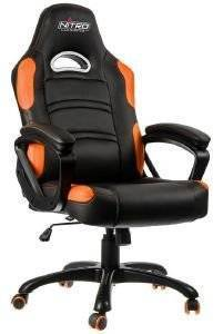 NITRO CONCEPTS C80 COMFORT GAMING CHAIR BLACK/ORANGE - NC-C80C-BO
