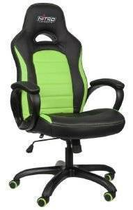 NITRO CONCEPTS C80 PURE GAMING CHAIR BLACK/GREEN - NC-C80P-BG
