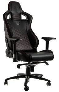 NOBLECHAIRS EPIC GAMING CHAIR BLACK/RED - NBL-PU-RED-002