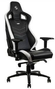 NOBLECHAIRS EPIC GAMING CHAIR SK GAMING EDITION BLACK/WHITE - NBL-PU-SKG-001