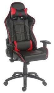 LC-POWER LC-GC-1 GAMING CHAIR BLACK/RED - LC-GC-1 ηλεκτρονικά παιχνίδια gaming chairs gaming chairs