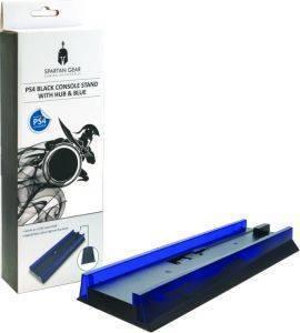 SPARTAN GEAR CONSOLE VERTICAL STAND BLACK WITH HUB - BLUE LIGHT ηλεκτρονικά παιχνίδια κονσολεσ   περιφερειακα περιφερειακα κονσολασ