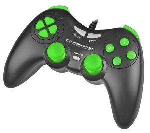 ESPERANZA EGG105KG GAMEPAD PC USB FIGHTER BLACK/GREEN