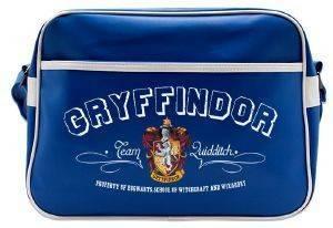"HARRY POTTER - ""GRYFFINDOR"" BLUE VINYL MESSENGER BAG (ABYBAG173) ηλεκτρονικά παιχνίδια video games merchandise τσαντεσ ωμου"