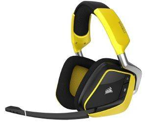 CORSAIR VOID RGB WIRELESS CARBON DOLBY 7.1 GAMING HEADSET YELLOW CA-9011150-EU ηλεκτρονικά παιχνίδια κονσολεσ   περιφερειακα gaming headsets
