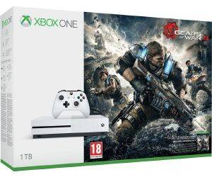 XBOX1 MICROSOFT XBOX ONE S CONSOLE 1TB WHITE + GEARS OF WARS 4 + 14DAYS XBOX LIVE (EU)