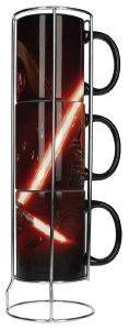 STAR WARS - KYLO LIGHTSABER 3 STACKABLE CERAMIC MUGS SET (SDTSDT89001)