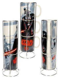 STAR WARS - VADER AND STORMTROOPERS 3 STACKABLE STAR WARS CERAMIC MUGS SET (SDTSDT89790)