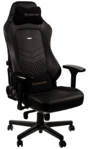 NOBLECHAIRS HERO REAL LEATHER GAMING CHAIR BLACK/BLACK
