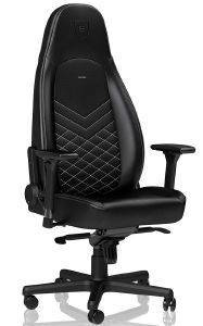 NOBLECHAIRS ICON GAMING CHAIR BLACK/GOLDWHITENOBLECHAIRS ICON GAMING CHAIR BLACK/GOLDWHITE