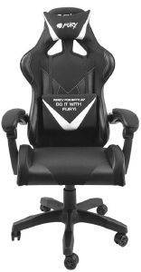 FURY NFF-1711 AVENGER L GAMING CHAIR BLACK/WHITE