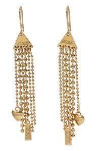 ΣΚΟΥΛΑΡΙΚΙΑ ΚΡΕΜΑΣΤΕΣ ΑΛΥΣΙΔΕΣ MOSCHINO LOVE - CHAINS κοσμήματα σκουλαρικια fashion glam