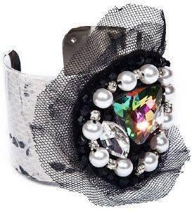 ΒΡΑΧΙΟΛΙ ACHILLEAS ACCESSORIES SNAKE SKIN ΜΕ ΠΕΡΛΕΣ κοσμήματα βραχιολια fashion glam