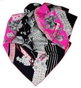 ΜΑΝΤΗΛΙ ΕΜΠΡΙΜΕ LEONARD ΜΑΥΡΟ ΜΕ ΦΟΥΞΙΑ ΦΛΟΥΟ accessories γυναικα μαντηλια μαντηλια