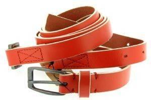ΖΩΝΗ ΔΙΠΛΗ DOUBLE WRAP ΠΟΡΤΟΚΑΛΙ (S) accessories γυναικα ζωνεσ δερματινεσ