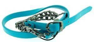 ΖΩΝΗ ΤΥΡΚΟΥΑΖ ΜΕ ΑΛΥΣΙΔΑ DKNY (M) accessories γυναικα ζωνεσ δερματινεσ