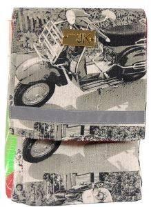 ΧΕΙΡΟΠΟΙΗΤΗ ΤΣΑΝΤΑ ΠΛΑΤΗΣ MADE BY JK VESPA ΓΚΡΙ accessories γυναικα τσαντεσ πλατησ
