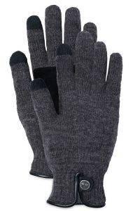 ΓΑΝΤΙΑ TIMBERLAND GI360097 WOOL/LEATHER CA1GEF003 ΑΝΘΡΑΚΙ (S/M) accessories ανδρασ κασκολ γαντια γαντια