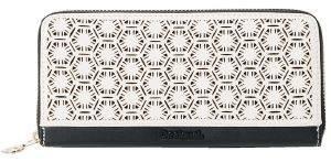 ΠΟΡΤΟΦΟΛΙ DESIGUAL AROUND OLGA ΕΚΡΟΥ/ΜΑΥΡΟ accessories γυναικα πορτοφολια συνθετικα