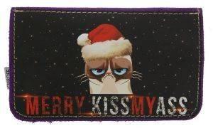ΔΕΡΜΑΤΙΝΗ ΚΑΣΤΟΡΙΝΗ ΘΗΚΗ ΚΑΠΝΟΥ ON AND OFF CHRISTMAS CAT accessories ειδη καπνιστου αξεσουαρ καπνοσακουλεσ