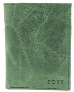 ΔΕΡΜΑΤΙΝΗ ΚΑΡΤΟΘΗΚΗ COZY 1977 CRUNCHY ΠΡΑΣΙΝΟ accessories καρτοθηκεσ καρτοθηκεσ