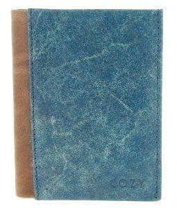 ΔΕΡΜΑΤΙΝΗ ΚΑΡΤΟΘΗΚΗ COZY 1977 DISTRESS ΜΠΛΕ accessories καρτοθηκεσ καρτοθηκεσ