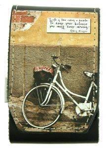 ΔΕΡΜΑΤΙΝΗ ΘΗΚΗ ΓΙΑ ΤΣΙΓΑΡΑ ΟN AND OFF BICYCLE MESSAGE accessories ειδη καπνιστου αξεσουαρ θηκεσ