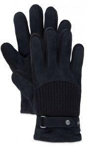 ΓΑΝΤΙΑ TIMBERLAND CA1E57001 SUEDE/RIB KNIT ΜΑΥΡΟ (M) accessories ανδρασ κασκολ γαντια γαντια