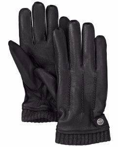 ΓΑΝΤΙΑ TIMBERLAND GL360092 LEATHER W CA1GCU001 ΜΑΥΡΟ (L) accessories ανδρασ κασκολ γαντια γαντια