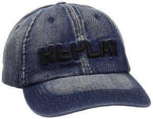 ΚΑΠΕΛΟ REPLAY JEAN AX4153.000.A0013D.488 ΜΠΛΕ (ONE SIZE) accessories ανδρασ καπελα σκουφοι καπελα